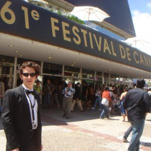 Isaac Ezban at Cannes Film Festival presenting his short film COOKIE 2008