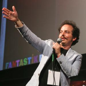 Isaac Ezban at the world premiere of his second feature film THE SIMILARS at Fantastic Fest 2015 (Austin, Texas, EUA, Sept 2015)