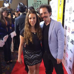 Isaac Ezban with producer and wife Miriam Mercado on the red carpet of the LA Hola Mexico Film Festival, getting ready for the LA premiere of THE INCIDENT, May 2015