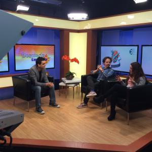Isaac Ezban and producer Miriam Mercado on TV interview before the Chicago premiere of THE INCIDENT at the Chicago Latino Film Festival, April 2015