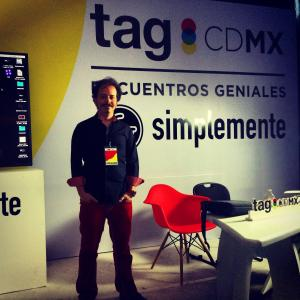 Isaac Ezban giving a conference in TagMX about his 2 first films THE INCIDENT and THE SIMILARS, July 2015