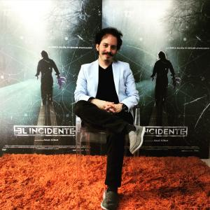 Isaac Ezban in press junket on June 2015 for the theatrical release of his first feature film THE INCIDENT in Mexico (September 2015).