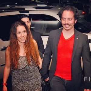 Isaac Ezban with producer and wife Miriam Mercado arriving at the red carpet of the opening night of Hermosillo International Film Festival to present THE INCIDENT