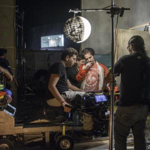 Director Isaac Ezban on the set of his second feature film THE SIMILARS (July 2014)