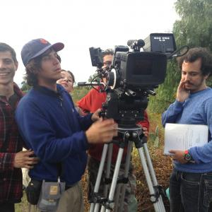 Director Isaac Ezban on the set of his first feature film THE INCIDENT (October 2013)