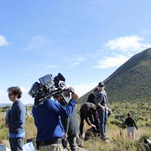Director Isaac Ezban on the set of his first feature film THE INCIDENT October 2013