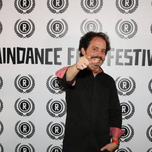 Isaac Ezban presenting THE INCIDENT and MEXICO BARBARO at Raindance Film Festival (UK, Oct 2015)