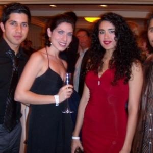 Jorie Burgos Actress and Casting Assistant at the 2008 Independent Spirit Awards after party with Actors Walter Perez Veronica Loren  Abel Becerra