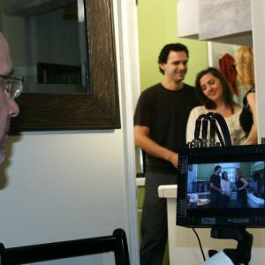 The Resolve Episode 5  Danny Lives Here Director Russ Cootey overlooks stars Alex Ballar and Kristina Hughes alongside series regular Eileen Grubba wwwTheResolveSeriescom