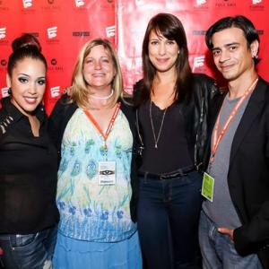 2013 Florida Film Festival Opening Night Party  Filmmaker ELizabeth Anne with Indie Cinema Showcases Christina Carmona Allison Walter and Luis Torres