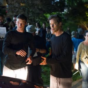 BTS still of James Bendishaw and Tom Cavanagh in Offer and Compromise