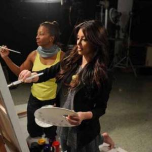 H8R Deena Jacobs with Kim Kardashian creating art by painting away the differences Search TOPIC DEENA JACOBS RANTS