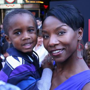 Jeryl Prescott Sales attends Disneys world premiere of Mars Needs Moms with her sons Jordan pictured and Coleman Sales March 6th 2011 at the El Capitan Theatre in Hollywood