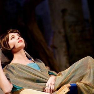 Lady Caroline Bramble in live performance of Enchanted April.