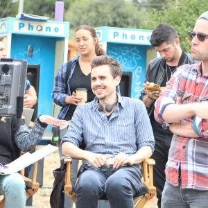 Erik Peter Carlson on the set of 'Wolf Mother' in Sonoma County, CA.