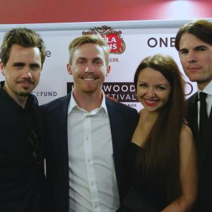 'The Toy Soldiers' at The Hollywood Film Festival - Arclight Theater - October 2014. With Thatcher Robinson, Monika Carlson and Chandler Rylko.