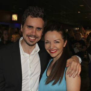 'The Toy Soldiers' screening at The Hollywood Film Festival - Arclight Theater - October 2014. With Monika Carlson.