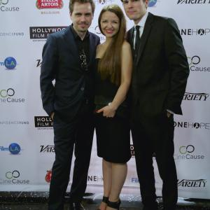 'The Toy Soldiers' at The Hollywood Film Festival - Arclight Theater - October 2014. With Monika Carlson and Chandler Rylko.