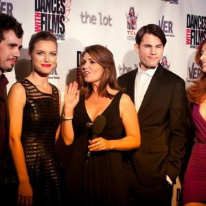 'The Toy Soldiers' World Premiere Press Party at Hollywood's Chinese Theatres - May 2014. With Constance Brenneman, Jeanette May Steiner, Chandler Rylko and Najarra Townsend.