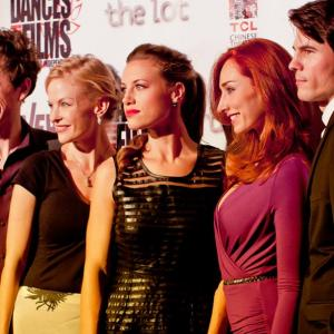 'The Toy Soldiers' World Premiere Press Party at Hollywood's Chinese Theatres - May 2014. With Constance Brenneman, Najarra Townsend, Chandler Rylko and Jeanette May Steiner.