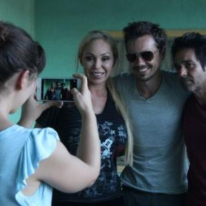 Erik Peter Carlson on the set of 'Wolf Mother' with Kevin Pinassi and Mary Cary. August 2015.