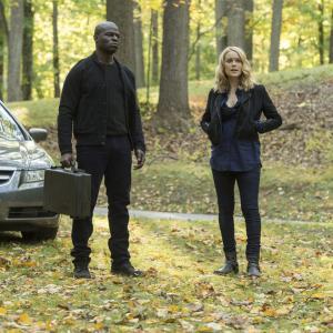 Still of Hisham Tawfiq and Megan Boone in The Blacklist (2013)