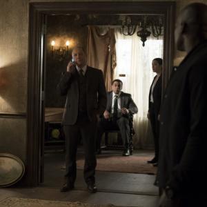 Still of James Spader, Harry Lennix and Megan Boone in The Blacklist (2013)