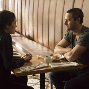 Still of Megan Boone and Ryan Eggold in The Blacklist (2013)
