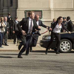 Still of John Bolger, Megan Boone and Diego Klattenhoff in The Blacklist (2013)