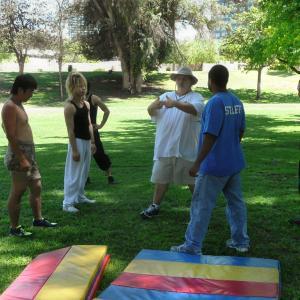Stunt rehearsal for Buddha's Bracelet