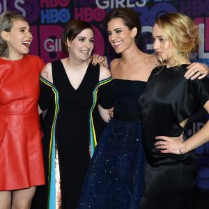 Zosia Mamet, Lena Dunham, Jemima Kirke, Allison Williams