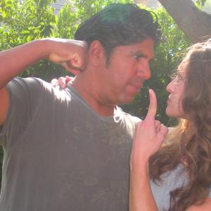 Gordon Vasquez, Shevaun Kastl, On Location 1st day filming