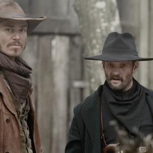 Jilon VanOver as Ransom Bray in Hatfields  McCoys with Andrew Howard