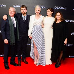 Lucy Fisher, Douglas Wick, Shailene Woodley, Theo James, Veronica Roth