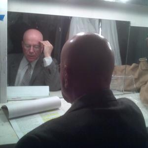 Prepping for dress rehearsal of A View from the Bridge