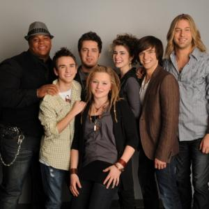 Still of Lee DeWyze, Aaron Kelly, Casey James, Crystal Bowersox, Michael Lynche, Siobhan Magnus and Tim Urban in American Idol: The Search for a Superstar (2002)