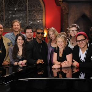 Still of Usher Raymond, Lee DeWyze, Katie Stevens, Aaron Kelly, Andrew Garcia, Didi Benami, Casey James, Crystal Bowersox, Michael Lynche, Siobhan Magnus and Tim Urban in American Idol: The Search for a Superstar (2002)