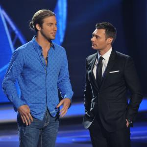 Still of Ryan Seacrest and Casey James in American Idol: The Search for a Superstar (2002)