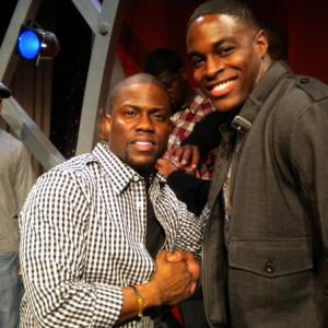 Nick Jones Jr and Kevin Hart at a comedy event