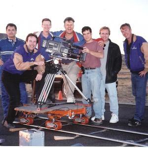 C Van Tune and crew of Motor Trend TV at Willow Springs Raceway