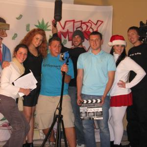 Brooke Bezick in Mexican Santa with cast and crew