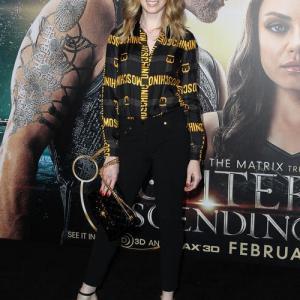 Jame Clayton at the Premiere of Jupiter Ascending