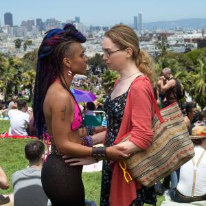 Still of Freema Agyeman and Jamie Clayton in Sense8 (2015)