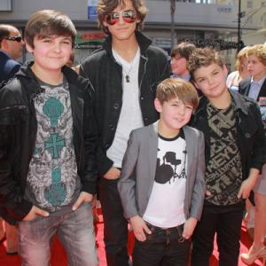 Max Charles, Logan Charles, Brock Charles, Mason Charles at the World Premiere Red Carpet event of The Three Stooges