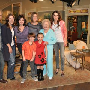 Hot In Cleveland Cast, Betty White, Valerie Bertinelli, Max Charles, Caitlin Charmichael, Jane Leeves,Wendie Malick, Gregory Harrison, Mandy June Turpan