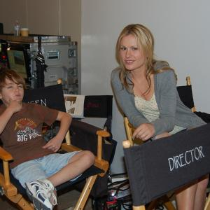 Anna Paquin and Max Charles on set of True Blood
