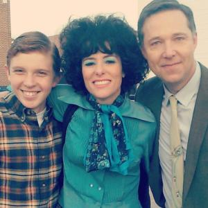 Ethan Wills, Parker Posey and George Newbern on set of Granite Flats, Season 3