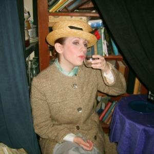 Backstage as Darlene in Titanic