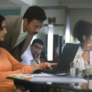 Still of Angelina Jolie Irrfan Khan and Archie Panjabi in A Mighty Heart 2007