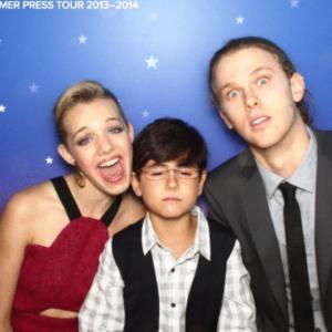 Sadie Calvano with Blake Rosenthal and Spencer Daniels
